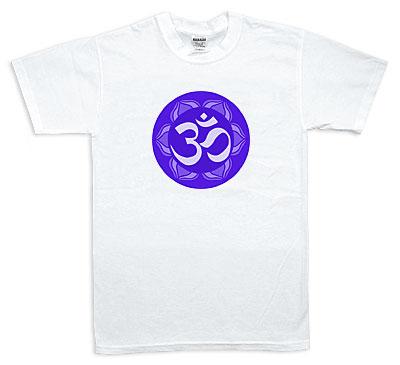 Koszulka - OM, niebieska